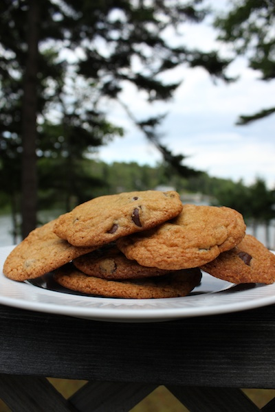 Brown Butter Chocolate Chip Cookies in the Great Outdoors