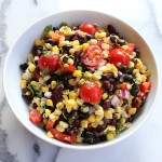 Healthy Corn and Black Bean Salad: tastyoasis.net