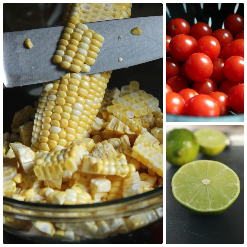 Healthy Corn and Black Bean Salad Collage| tastyoasis.net