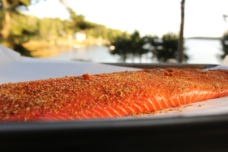 Wild Alaskan Salmon crusted with spices