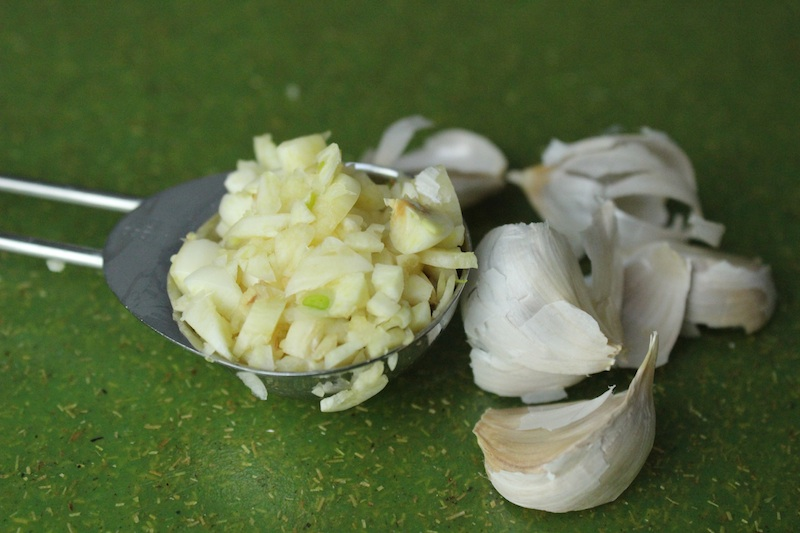 Minced Garlic for Honey Miso Chicken| www.tastyoasis.net