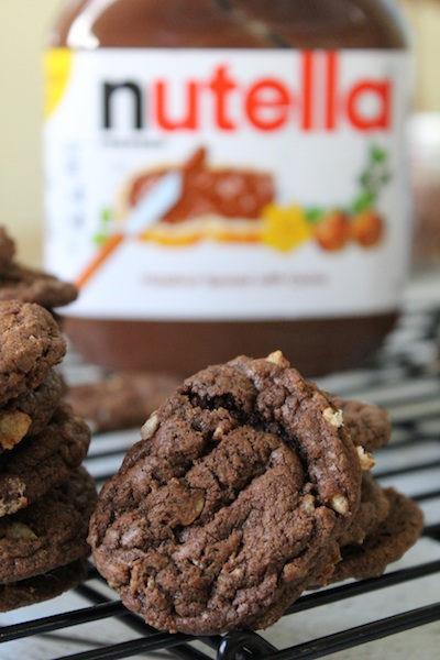 Nutella Crunch Cookies and Chocolatey Nutella Crunch Cookies are two ...