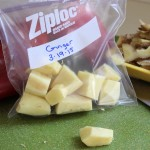 Quick Tip: When you buy fresh ginger, peel all of it at once, chop it into varying sizes, and put the pieces into a Ziploc freezer bag or container and store it in the freezer for another time. Then throw it into your smoothies! | www.tastyoasis.net