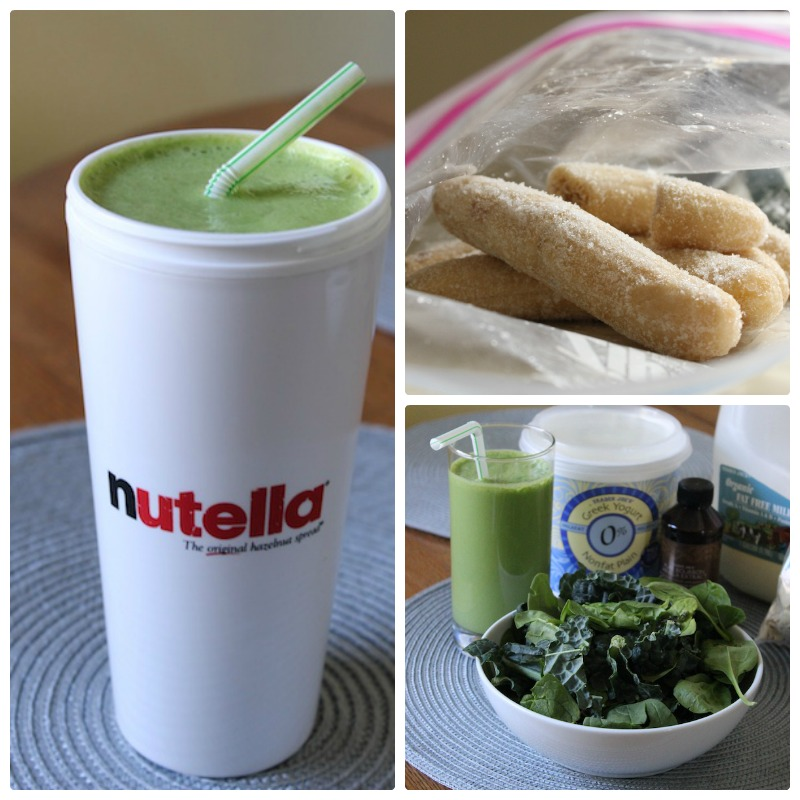 This Healthy Green Smoothie is filled with spinach and kale, but the sweet frozen banana makes this taste decadent and satisfying. It's fast and easy, packed with protein, and is perfect for breakfast on the go or popsicles. |www.tastyoasis.net