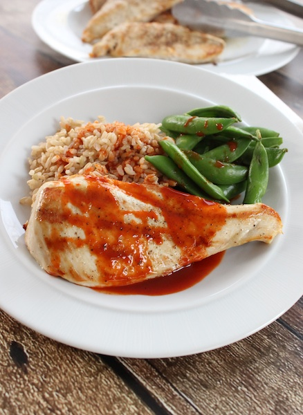 Korean Chili Honey Sauce And Grilled Chicken 3 Ingredients In Under 20 Minutes Tasty Oasis