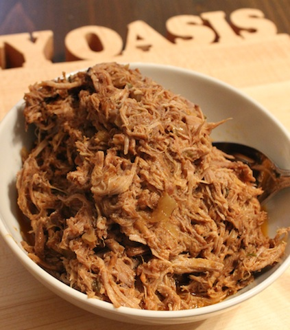This Chipotle Barbecue Pulled Pork in the Crockpot is one of the easiest ways to get comfort food on your table with very little effort. It's smokey, sweet and spicy all at the same time, and it can serve a crowd or fill your freezer with leftovers. | www.tastyoasis.net