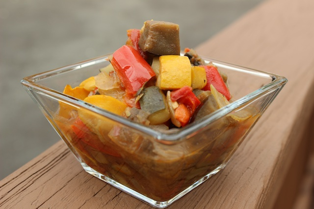 Alice Water's Ratatouille is a Genius Recipe, and there's no reason to fool with it. Healthy and freezer-friendly, it's a hearty vegan stew that's just as satisfying on a hot summer day as it is on a cool fall night. | www/tastyoasis.net