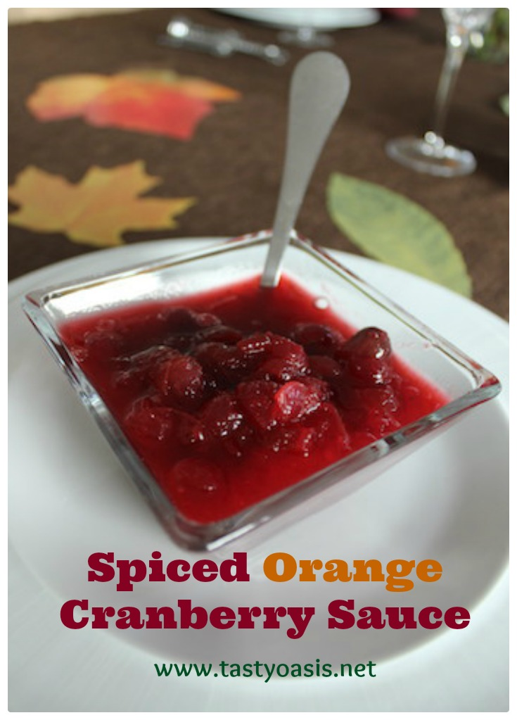 This Spiced Orange Cranberry Sauce is an easy make-ahead dish for your holiday table that's freezer-friendly so it can also bring you extra flavor and sweetness in the months to come. The combination of tart cranberries with bright citrus, the mild heat of ginger and cinnamon and the earthiness of freshly grated nutmeg with just enough sugar gives it the perfect balance. It's ideal as a side dish for turkey, but you can add it to a smoothie, oatmeal, chili or a bowl full of plain greek yogurt or vanilla ice cream and everyone will be happy. | www.tastyoasis.net