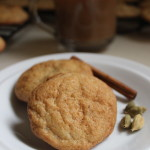 These Cardamom Snickerdoodles are chewy cookies with crispy edges, spiced with smokey cardamom and a hint of cinnamon. They're not too sweet, and are perfect with a cup of chai in the afternoon, or to serve for company at a party.  | www.tastyoasis.net