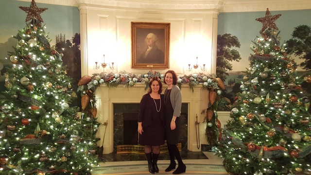 At the White House with George