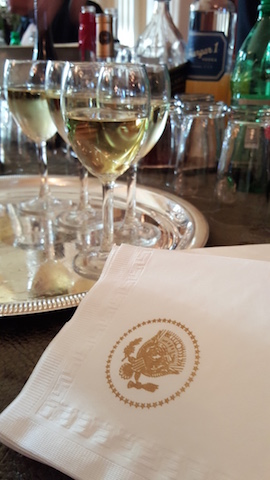 Wine and White House Napkin