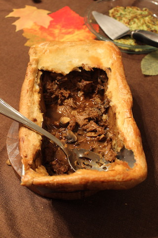 Donna Hay's Beef, Guinness and Mushroom Pie with a Hot Water Pastry Crust is a hearty meal that's a perfect weekend project. You can double it, and make an extra pie for your freezer or a friend. The pastry dough is easy to make, stands up to a heavy filling, and is flaky and buttery. It's definitely worth the effort! | www.tastyoasis.net