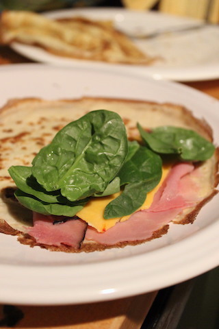 Julia Child's Crepes are a classic. A simple batter comes together in the blender in just minutes, and the french pancakes can then be filled with your favorite meats, cheeses or vegetables to serve as a meal, or spread with Nutella for dessert.  www.tastyoasis.net
