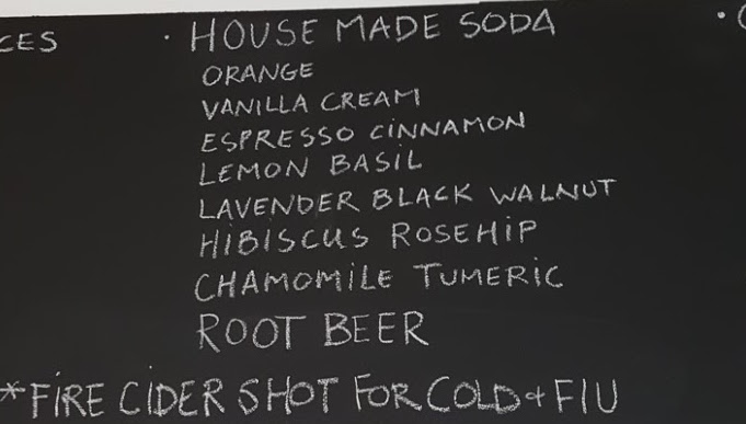 House made sodas at Lekker 209